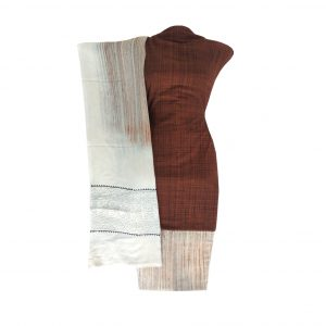 Khadi Dress Handloom Cotton Material for Women : Brown | BDM718