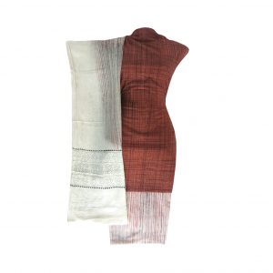 Khadi Dress Handloom Cotton Material for Women : Maroon | BDM720