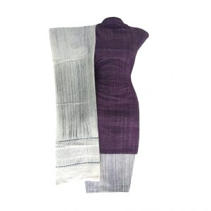 Khadi Dress Handloom Cotton Material for Women : Purple | BDM721
