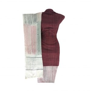 Khadi Dress Handloom Cotton Material for Women : Maroon | BDM722