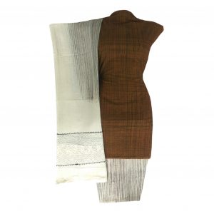Khadi Dress Handloom Cotton Material for Women : Khaki | BDM723