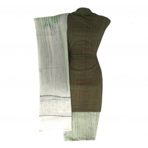 Khadi Dress Handloom Cotton Material for Women : Green | BDM724