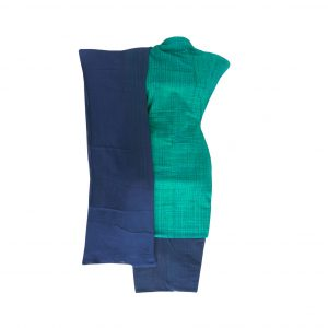 Khadi Dress Handloom Cotton Material for Women : Blue | BDM725