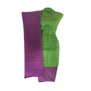 Khadi Dress Handloom Cotton Material for Women : Green | BDM726