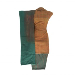 Khadi Dress Handloom Cotton Material for Women : Brown | BDM727