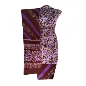 Batik Dress Handloom Cotton Material for Women : Maroon & Purple | BDM869