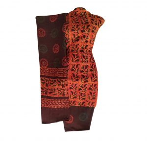 Batik Dress Handloom Cotton Material for Women : Maroon | BDM876