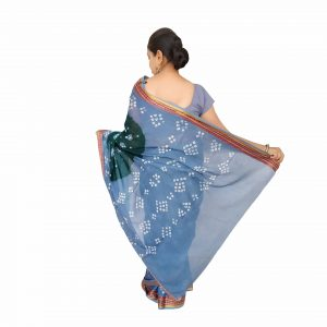 Bandhani Saree Handloom Cotton for Women : Gadhwal | SD19-2