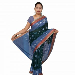 Bandhani Saree Handloom Cotton for Women : Gadhwal | SD19