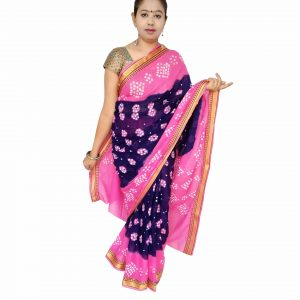 Bandhani Saree Handloom Cotton for Women : Gadhwal | SD26
